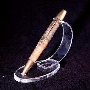 Burl Antique Brass Twist Rollerball