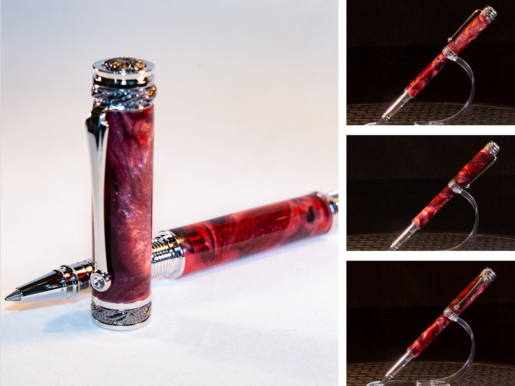 Iridescent Red Rollerball